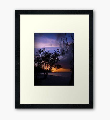 Cape Flattery sunset Framed Print