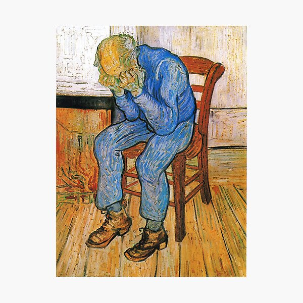 Vincent van Gogh - Sorrowing old man Photographic Print