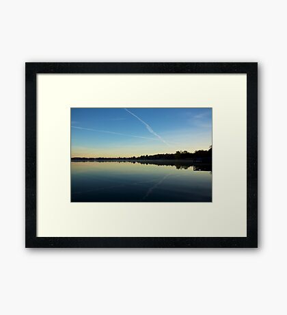 At the crossroads Framed Print