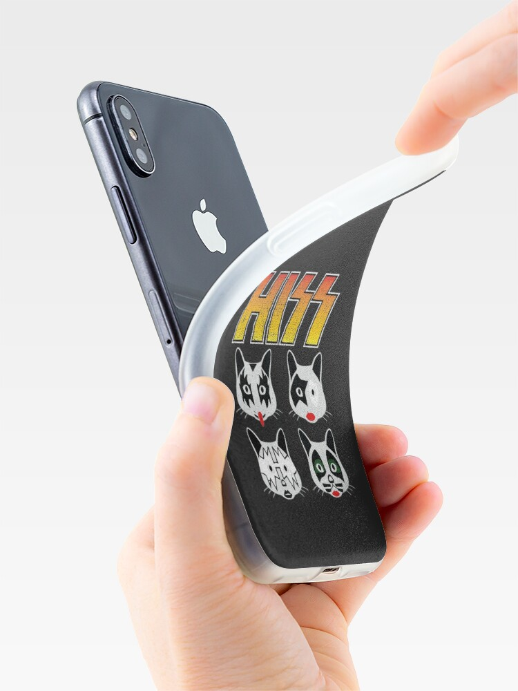 Alternate view of Hiss Kiss - Cats Rock Band iPhone Case & Cover