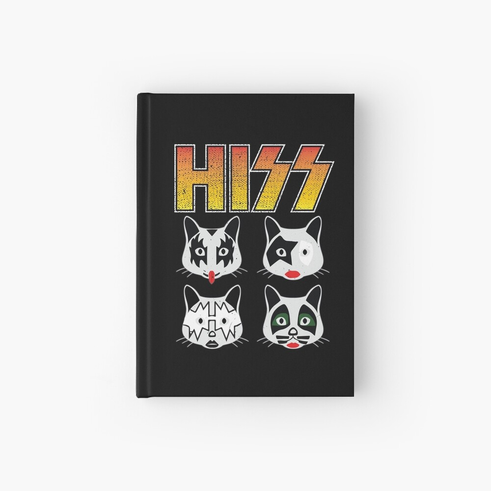 Hiss Kiss - Cats Rock Band Hardcover Journal