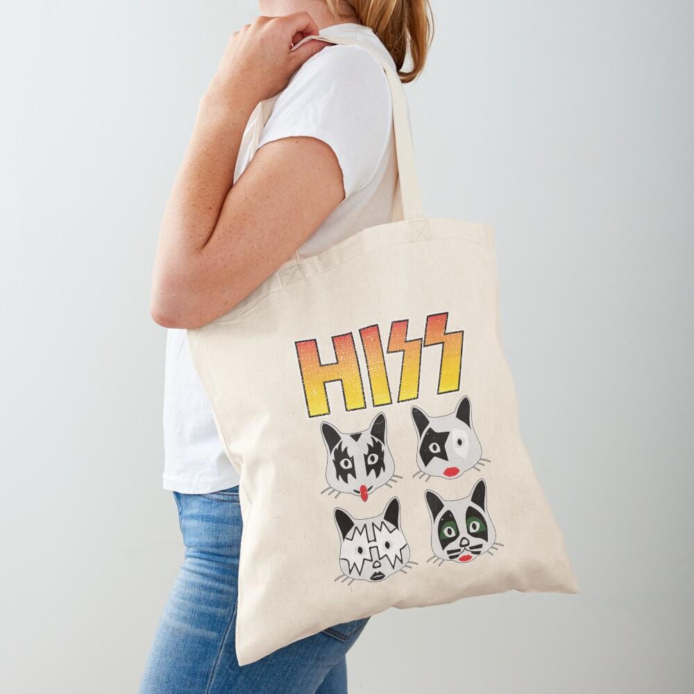 Hiss Kiss - Cats Rock Band Tote Bag