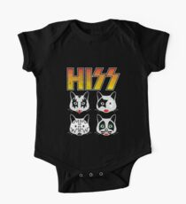 Hiss Kiss - Cats Rock Band Short Sleeve Baby One-Piece