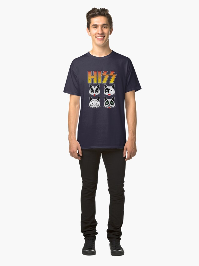Alternate view of Hiss Kiss - Cats Rock Band Classic T-Shirt
