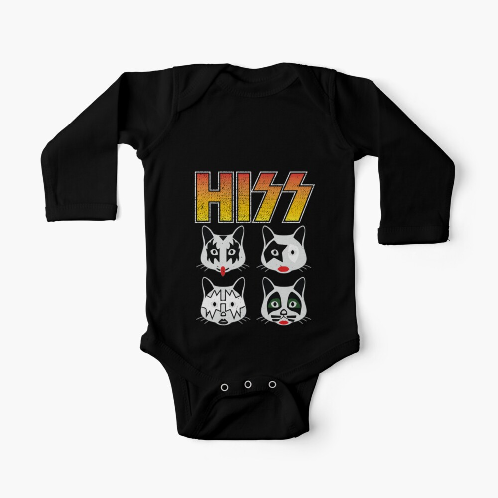 Hiss Kiss - Cats Rock Band Baby One-Piece