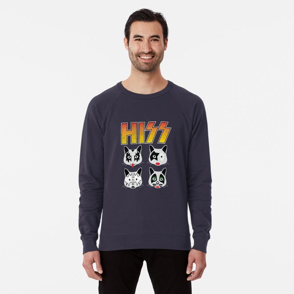 Hiss Kiss - Cats Rock Band Lightweight Sweatshirt
