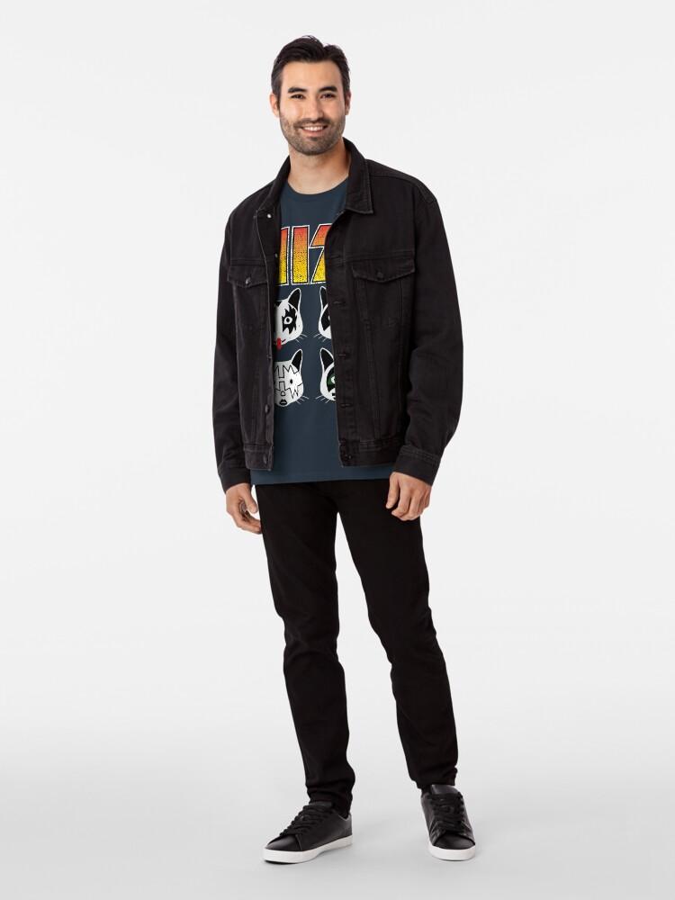 Alternate view of Hiss Kiss - Cats Rock Band Premium T-Shirt
