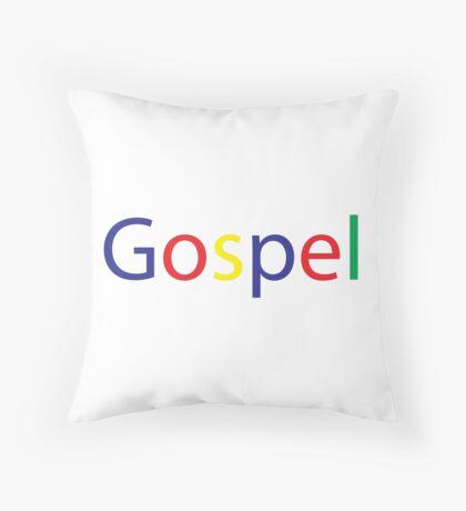 Gospel in Google Colors Throw Pillow