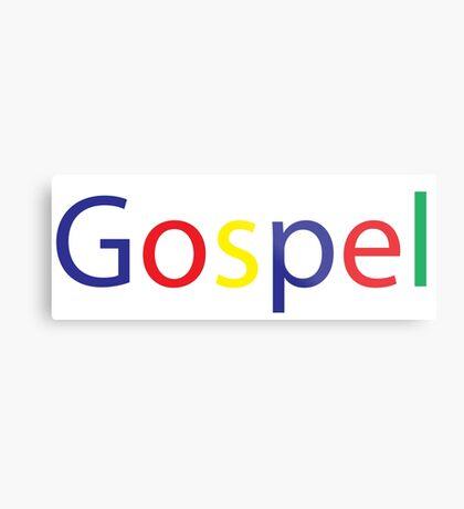 Gospel in Google Colors Metal Print