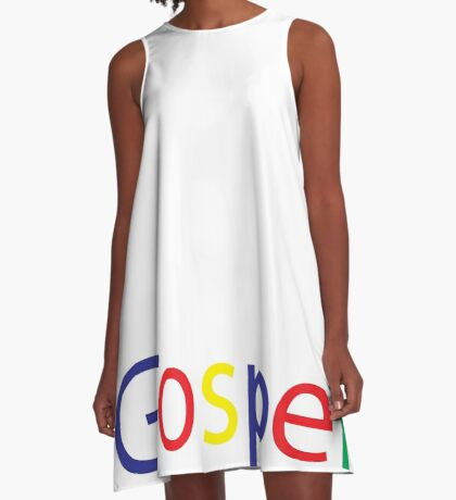 Gospel in Google Colors A-Line Dress