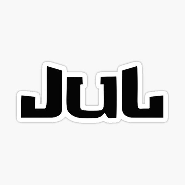 JUL logo noir Sticker