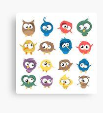 Ugly Birds Canvas Print