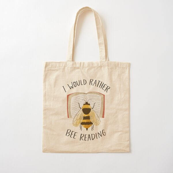 I Would Rather Bee Reading Cotton Tote Bag