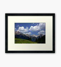 Lámina enmarcada Clouds in the Dolomites