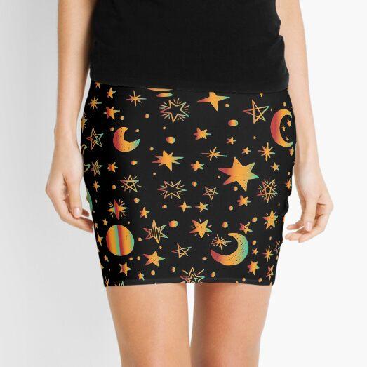 Celestial - Moon and Stars Mini Skirt