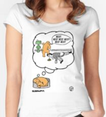 Dogs Dream. Women's Fitted Scoop T-Shirt