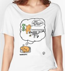 Dogs Dream. Women's Relaxed Fit T-Shirt