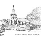 The Church of St. Peter, Shorwell by Linda Marques
