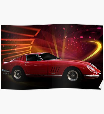 "1967 Ferrari 275 GTB/4 Berlinetta ""Catch Me, If You Can!"" #1 Poster"