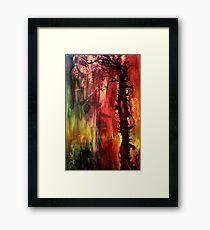 October II Abstract Framed Print