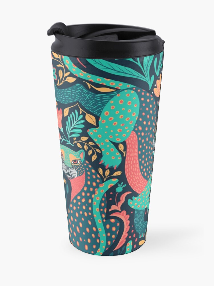 Alternate view of Folk tiger Travel Mug