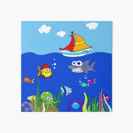Ryan's Sea Art Board Print