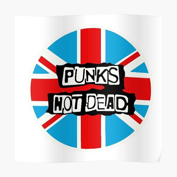 Punks not Dead British Flag Poster