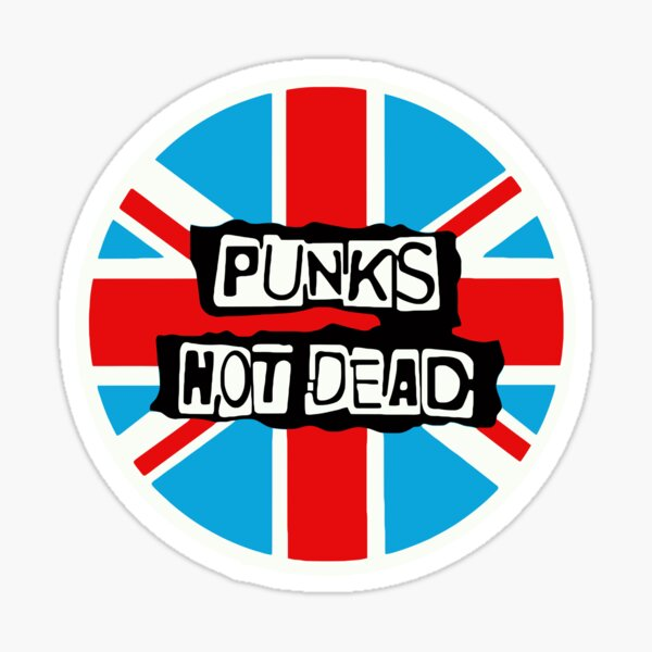 Punks not Dead British Flag Sticker