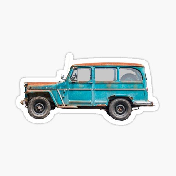Willys Jeep Station Wagon Sticker