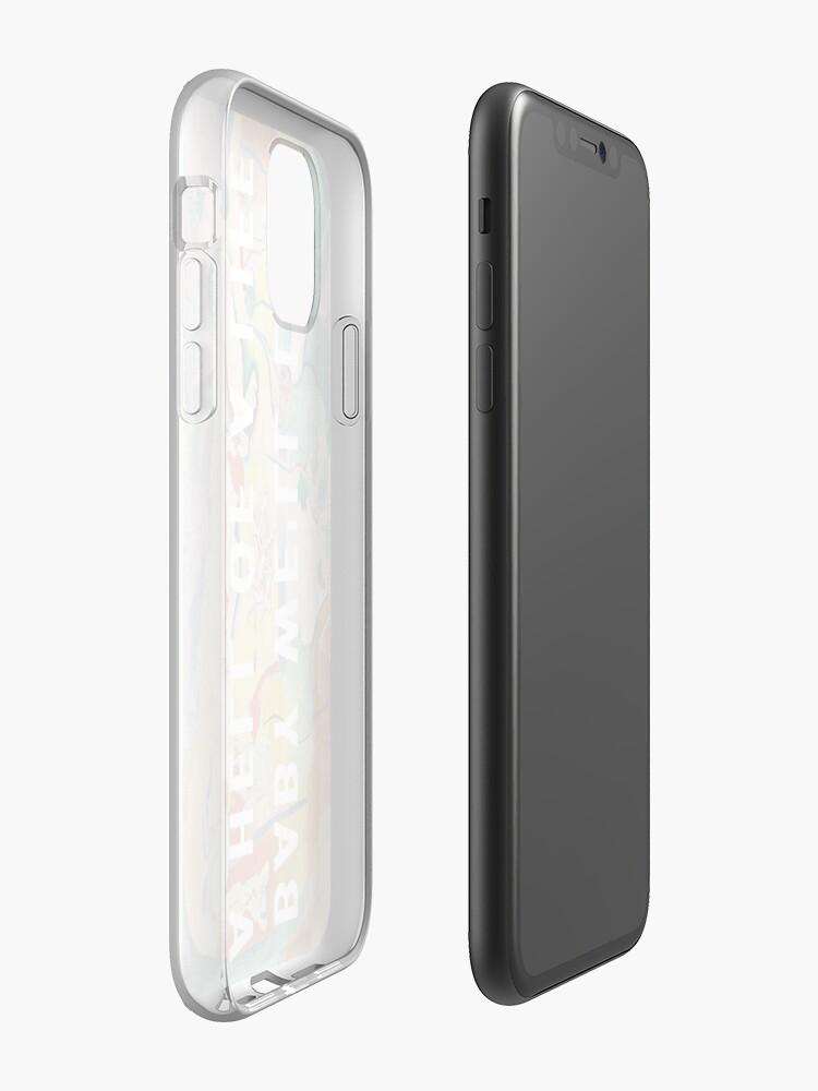 Coque iPhone «BABY NOUS VIVONS UN ENFER D'UNE VIE - KANYE WEST», par Barbzzm