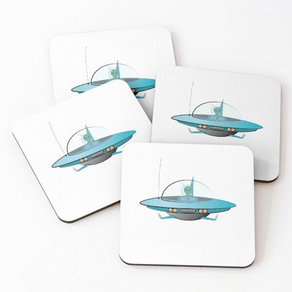 UFO or Future Flying Car Coasters (Set of 4)