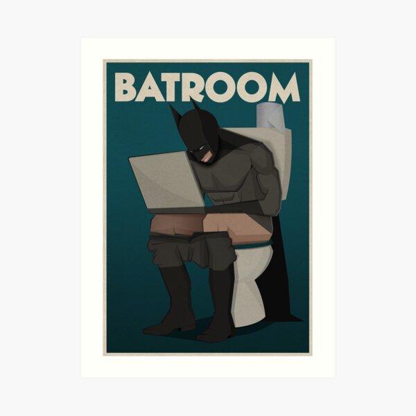 super hero in bathroom Art Print