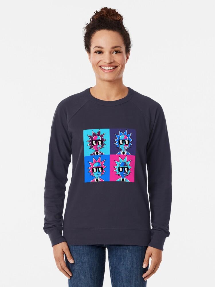 Alternate view of Rick and Morty - Rick Sanchez  Lightweight Sweatshirt