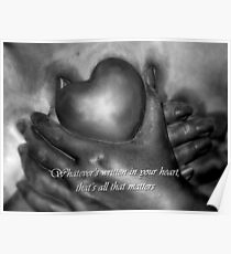 Whatever's Written In Your Heart Poster