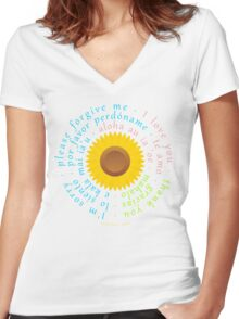 Hoʻoponopono Women's Fitted V-Neck T-Shirt