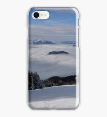 landscape with snow and clouds iPhone Case/Skin