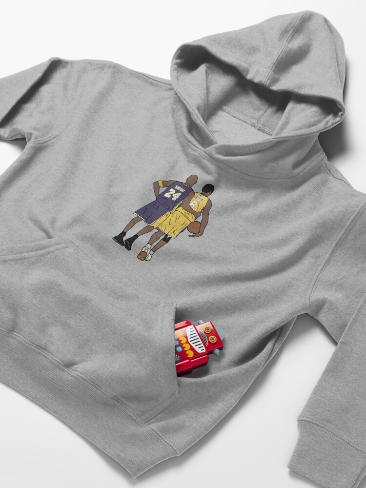Alternate view of Young Kobe And Old Kobe Kids Pullover Hoodie