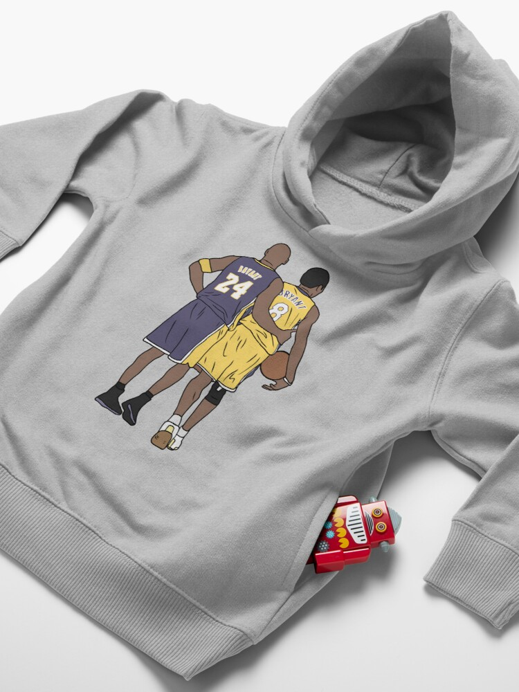 Alternate view of Young Kobe And Old Kobe Toddler Pullover Hoodie