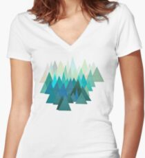 Cold Mountain Women's Fitted V-Neck T-Shirt