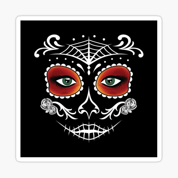 Day of the Dead Mask Sticker