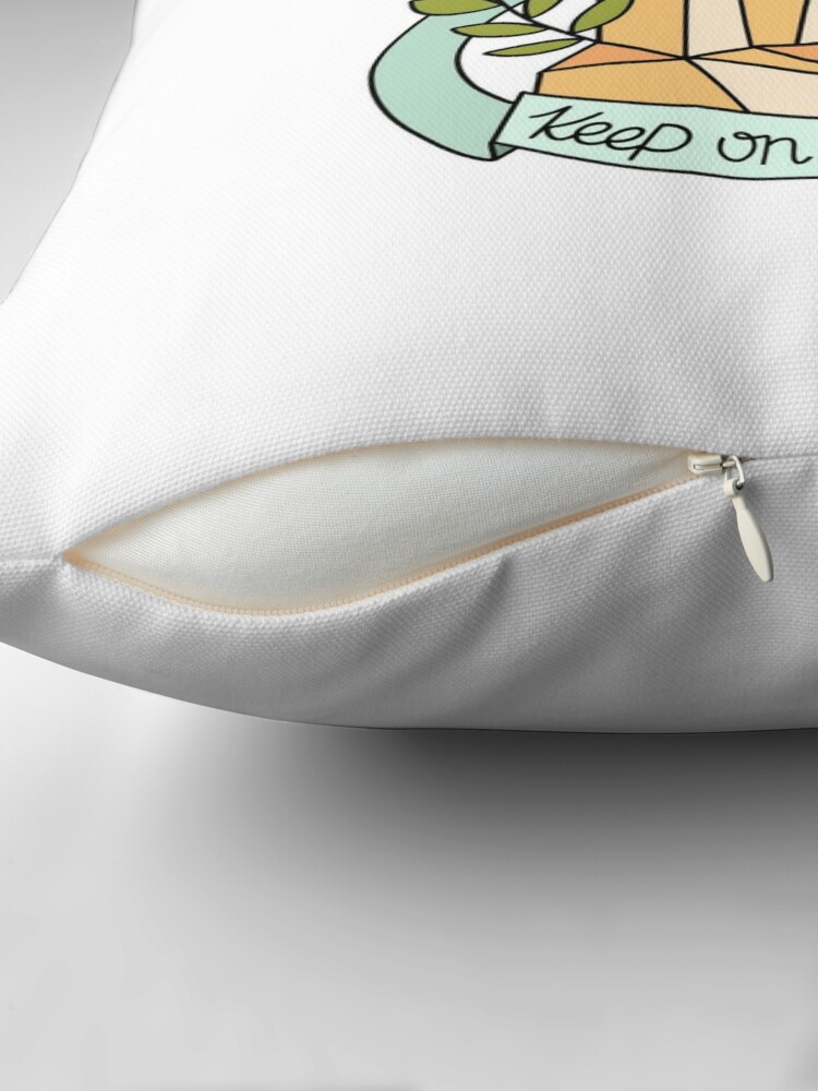 Alternate view of Keep on Shining Throw Pillow