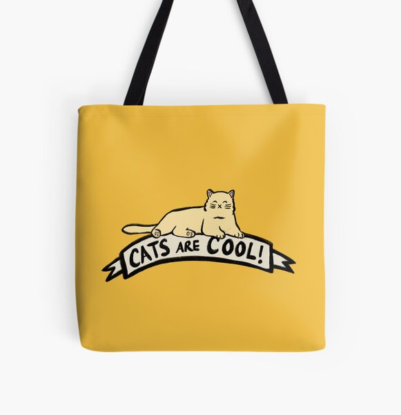 Cats are Cool All Over Print Tote Bag