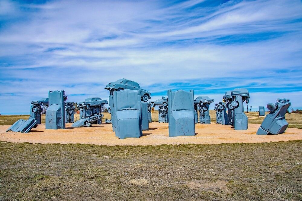 Carhenge  in Alliance, Nebraska by Jerry Walter