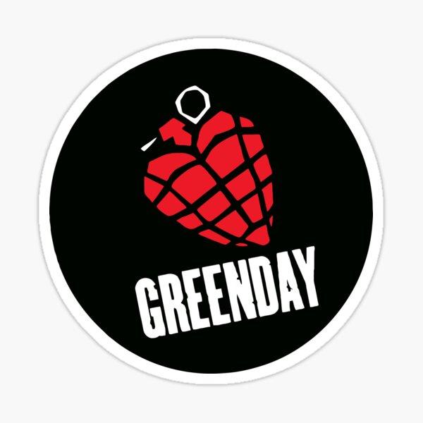 Greenday Heart Granade Sticker