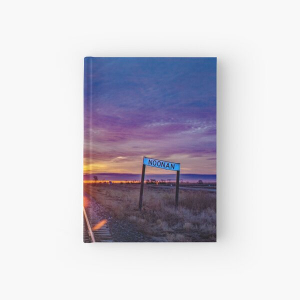 Railroad Tracks and Old Noonan Sign Hardcover Journal