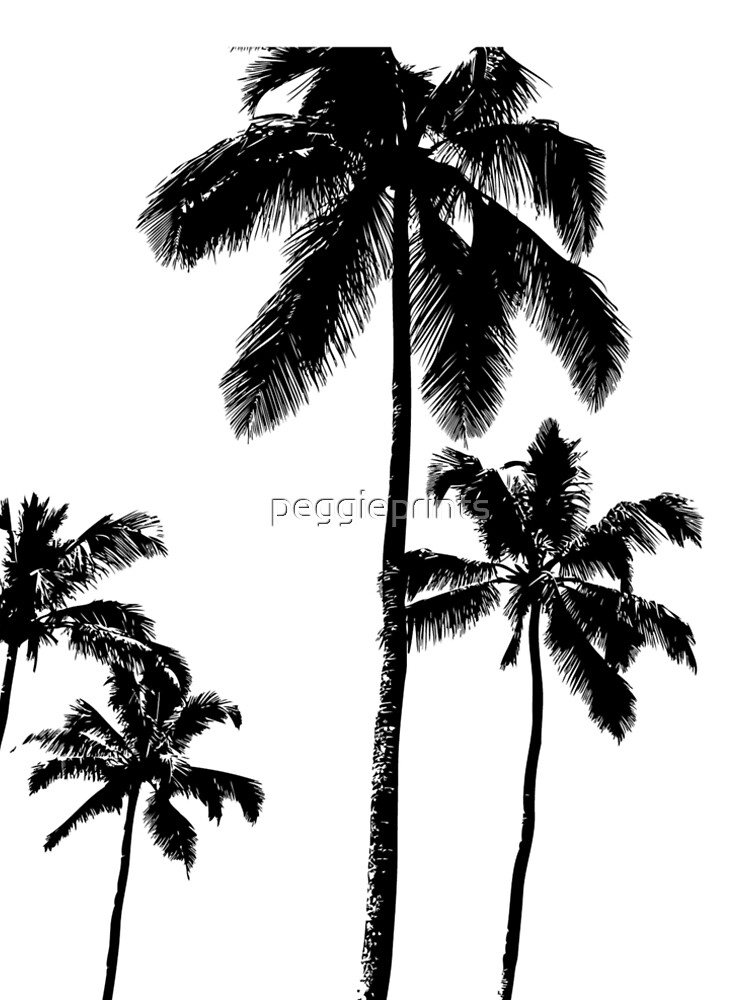 Tropical palms in monochrome by peggieprints