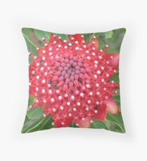 Star Waratah Throw Pillow