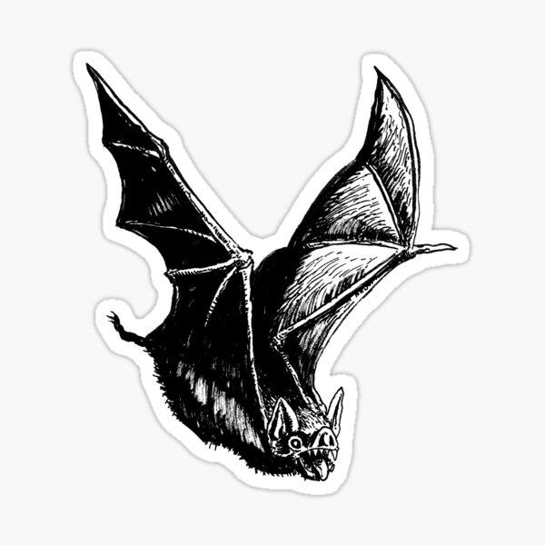 Graveyard Bat Sticker