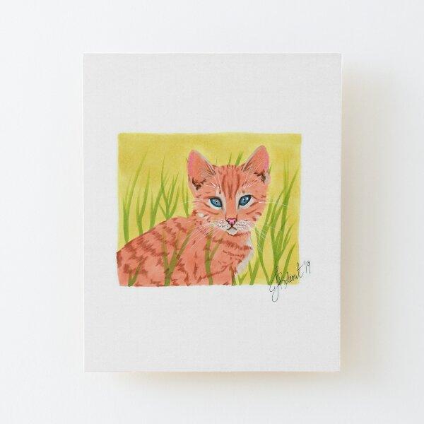 Ginger Kitten (2019) Wood Mounted Print