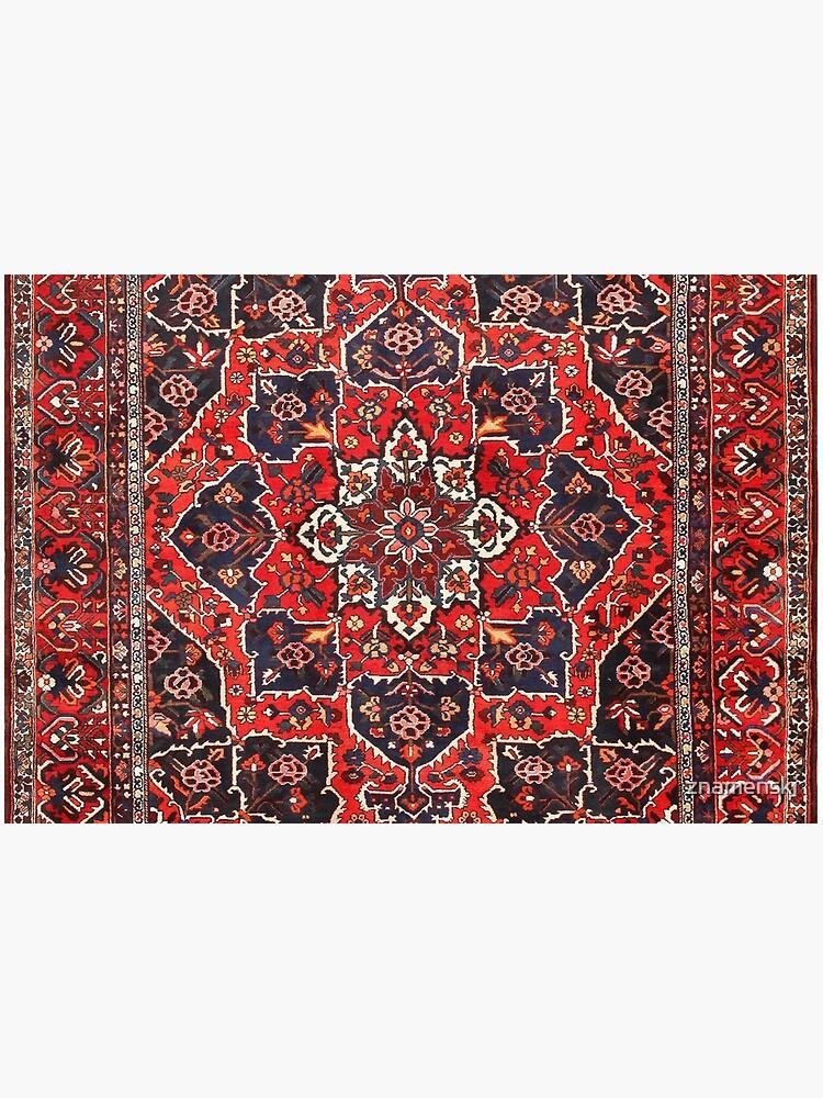 Tufted carpet / loop pile / Bakhtiari Rug | Antique Persian Bakhtiari Carpet wool  by znamenski